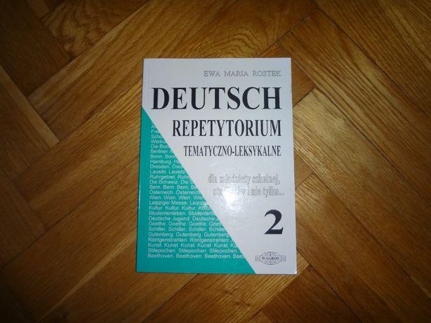 Repetytorium tematyczno-leksykalne 2 język niemiecki jak nowa