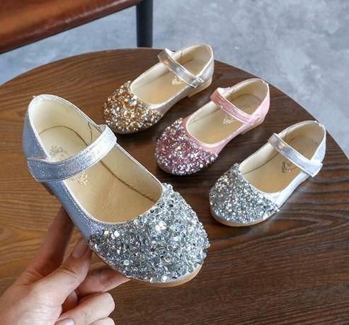 нарядні туфельки для дівчинки туфли туфлі дитячі балетки ботинки 28 27