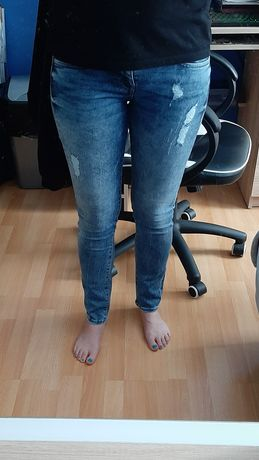Spodnie jeansy Big Star, przetarcia, rurki - skinny rozm 28/30, ideał