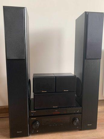 Kino domowe Pioneer BDP-160-K + VSX-323-K + zestaw 5 głośników
