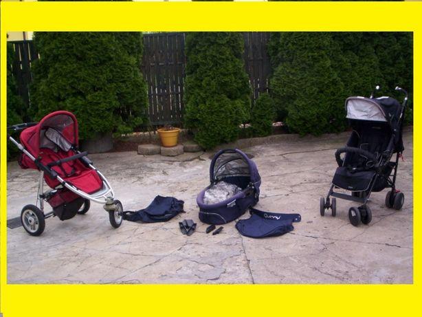 Wozek dzieciecy Maclaren XT oraz Quinny SX 3w1 - Maxi Cosi + akcesoria
