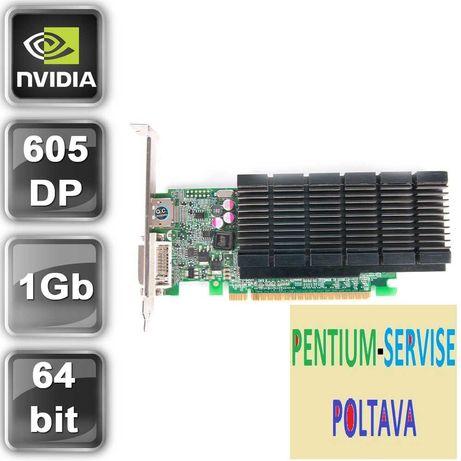 Видеокарта PCI-E NVIDIA Fujitsu GeForce 605 DP (1GB/DDR3/64bit/DVI/DP)