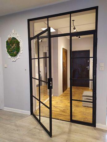 Ścianka LOFT drzwi loftowe  Ściana Metalowa WITRYNY DRZWI