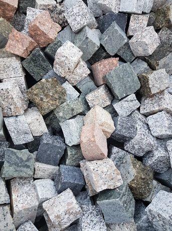 Kostka kamienna, mozaika 4/6, kostka granitowa, brukowa, mix kolorów