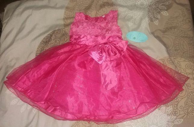 Balowa suknia z brokatem. Na podszewce z kokardą. Tłoczone róże ROZ 86