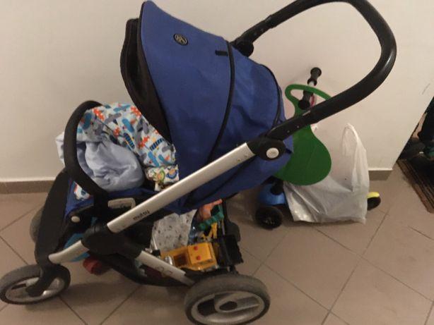 Wózek spacerowy i gondola Mutsy Evo niebieski (royal blue)