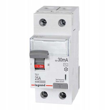 Wyłącznik różnicoprądowy 25A 30mA AC 411509 Legrand TX3