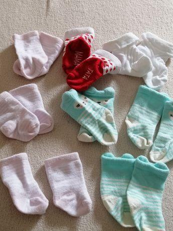 Skarpetki niemowlęce komplet zestaw
