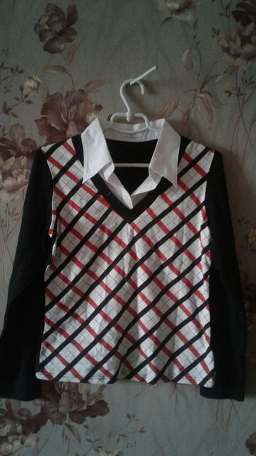 Женская кофточка рубашка обманка