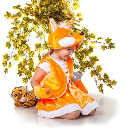 Лиса и белочка лисичка лисиця білка помаранчева костюм новий рік