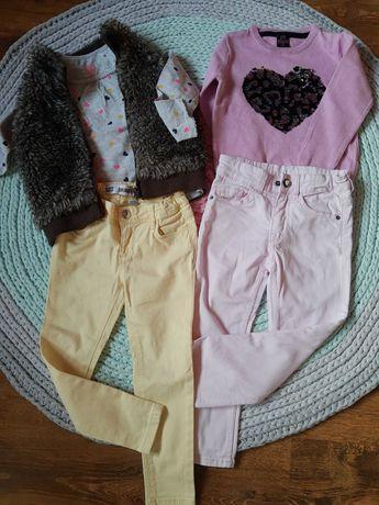 Mała paka/ zestaw ubrań dla dziewczynki 98 smyk H&M