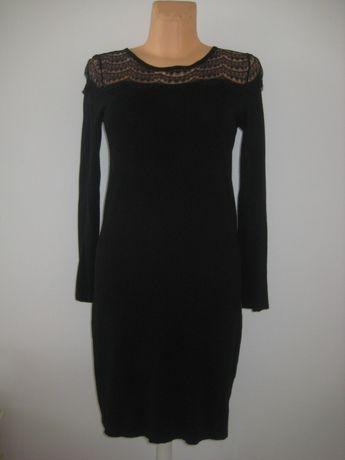 **Camaieu**czarna sukienka z koronką 38
