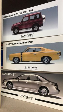 Mercedes G500 SWB, Maybach 57, Chrysler Charger E49 AUTOart 1:18