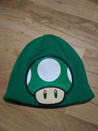 dwustronna czapka super Mario grzybek 44/45cm