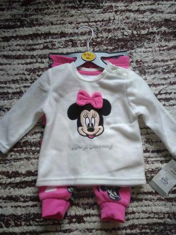 Piżama myszka Miki Mickey mouse Disney rozmiar 9-12 miesięcy 80cm