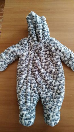 Детский зимний (холодная осень-весна) комбинезон 0-3 мес