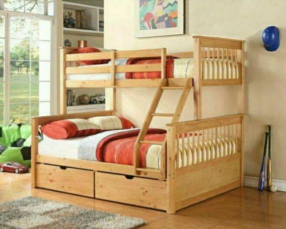 Двухъярусная кровать Жасмин. Для детей, деревянная. От производителя