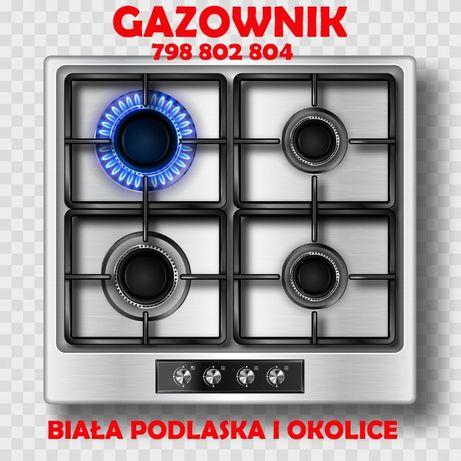 Montaż kuchenek i płyt gazowych,uprawnienia gazownika Biała Podlaska