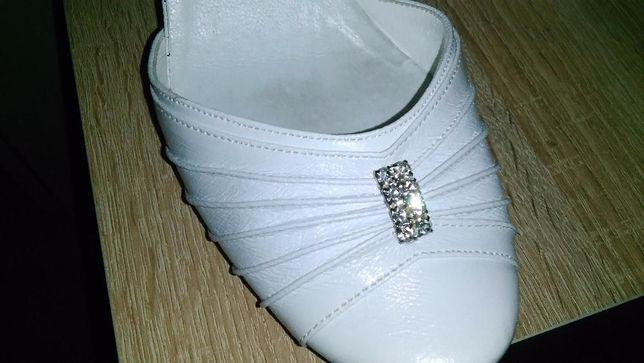 buty ślubne białe roz.40