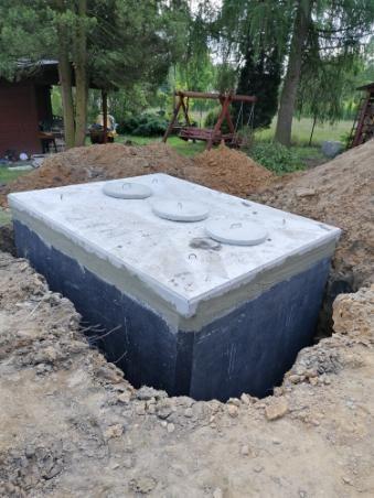 szambo 12m3 szamba betonowe zbiornik na deszczówkę kanał betonowy