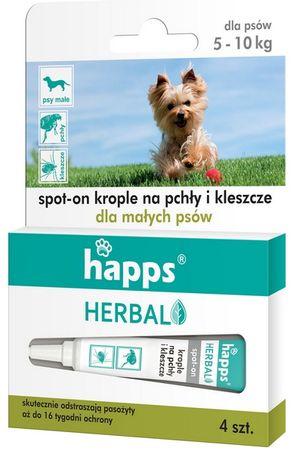 Happs krople pchły i kleszcze dla małych psów 10kg