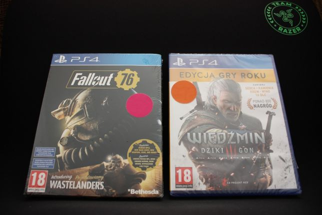 Нові Диски з The Witcher 3 і Fallout 76 ps4/ps5