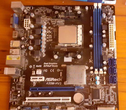 Материнская плата ASRock +процессор + видеокарта