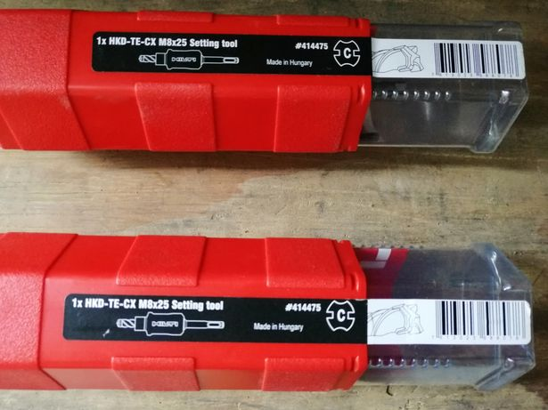 Krótkie narzędzie do osadzania  kotew Hilti cena za 1 sztukę