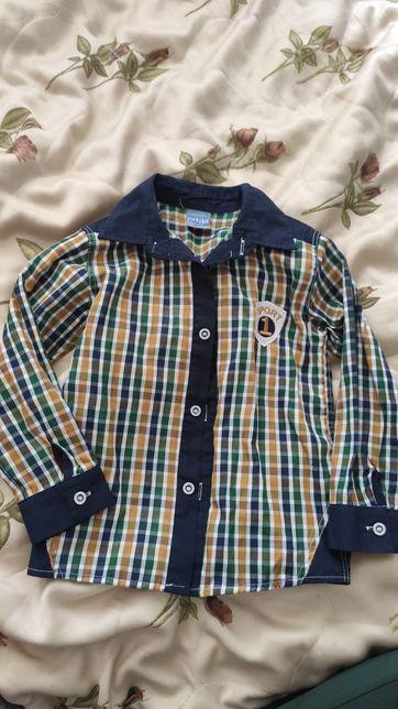 Сорочка рубашка для мальчика хлопчика 104