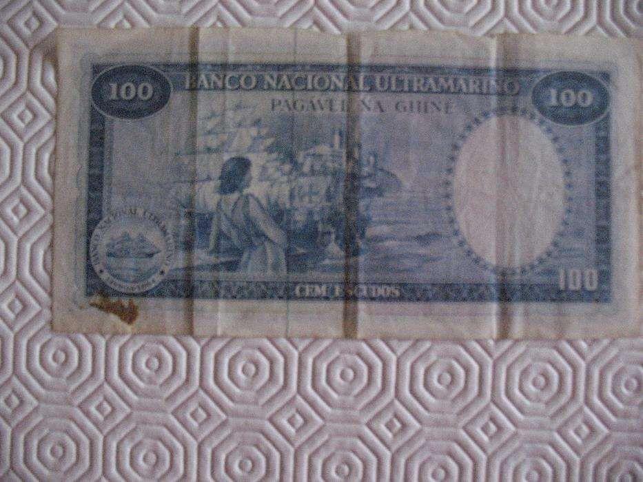 Nota de 100 Escudos da Guiné Cartaxo - imagem 1