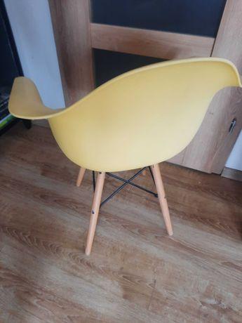 Krzesło fotel żółty