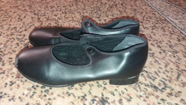Туфли для танцев,степа,чечетки стелька 19см искуственная кожа.