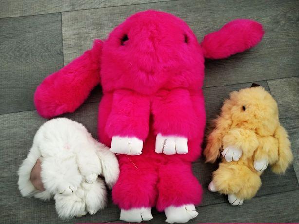Меховые сумка кроль+ 2 брелка