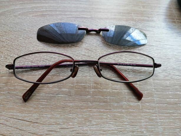 Okulary plus nakładka na słoneczne