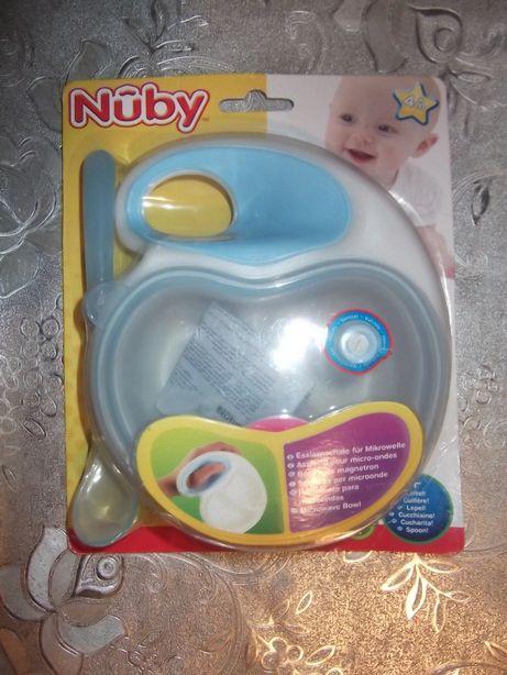 тарелка с ложкой (для св-печи, микроволновки) Nuby