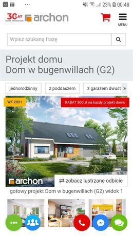 Projekt domu jednorodzinnego dom w Bugenwillach G2