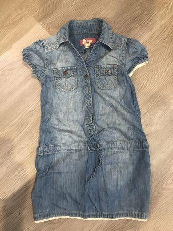 Джинсовое модное детское платье