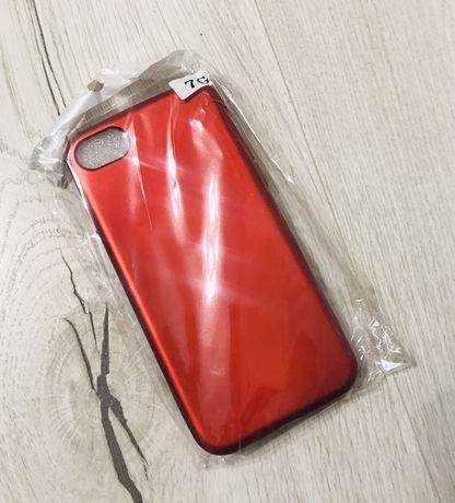 Чехол iphone 7 красного цвета/новый