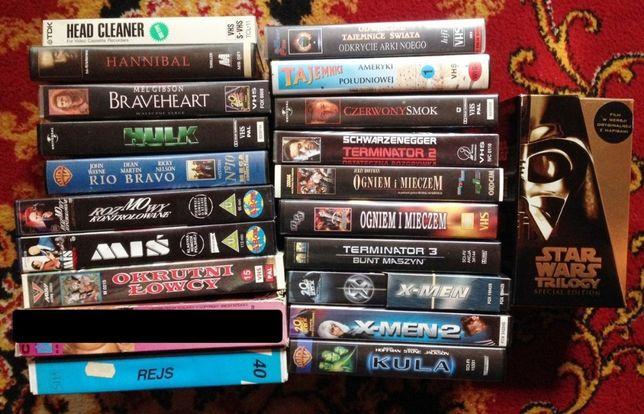 Kasety filmy VHS Miś, Rejs, Hannibal, Xmen, Gwiezdne Wojny