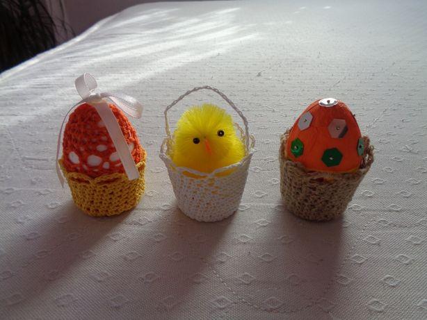 Ozdoby wielkanocne jajka kurczaki kurki koszyczki koszyki