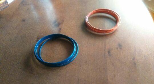 Bransoletki niebieskie, morelowe / pomarańczowe