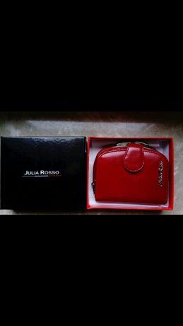 Skórzany portfel funkcjonalny Julia Rosso