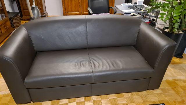 Sofa 2-osobowa (skóra) + 2 fotele (skóra)