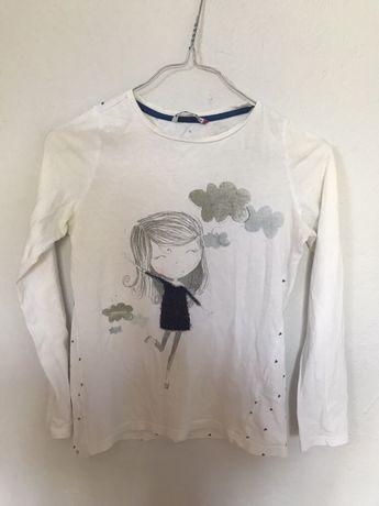 Biała bluzeczka dziewczęca RESERVED pastelowa JAK NOWA 146