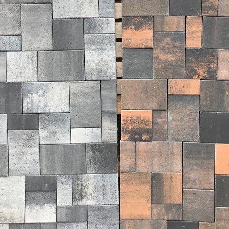 Тротуарная плитка 60мм, бордюры, поребрик, укладка, бруківка фем