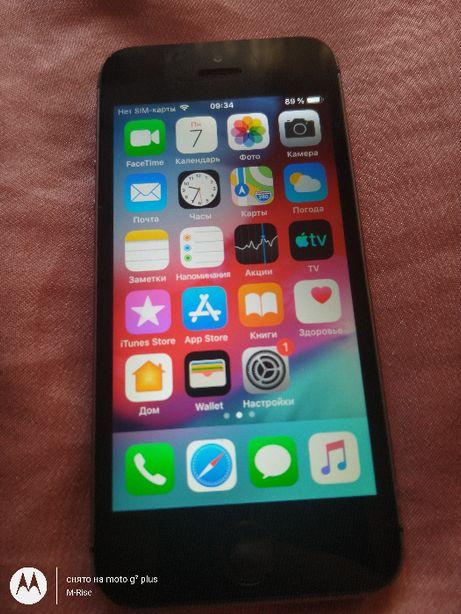 IPhone 5S 16GB из США! Icloud чист ios 12.4.9/ Под р-сим.Износ акб 9 %