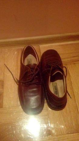 pantofle męskie skórzane