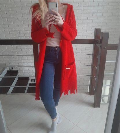 Kardigan czerwony