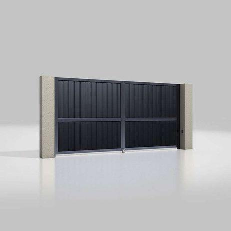 Розпашні ворота серії Prestige. 2375 x 1835 мм.