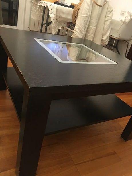Duży stolik kawowy wenge 80x80cm